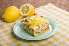Lemon poppyseed bread pudding Stock Image