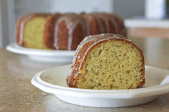 Lemon Poppyseed Cake Stock Images