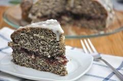 Lemon Poppyseed Cake. On a plate Royalty Free Stock Images