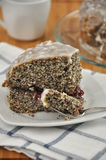 Lemon Poppyseed Cake. On a plate Royalty Free Stock Image
