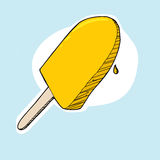 Lemon Popsicle Stock Images