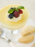 Lemon Posset with Shortbread Biscuits Royalty Free Stock Images