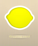 Lemon postcard illustration Stock Photo