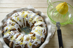 Lemon Pound Cake Royalty Free Stock Images