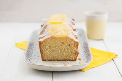 Lemon pound cake Stock Image