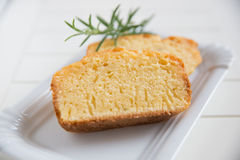 Lemon Pound Cake with Rosemary Stock Photography