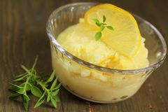 Lemon pudding Stock Images