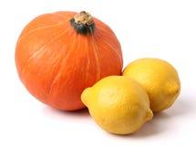 Lemon and pumpkin Royalty Free Stock Photography