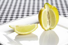 Lemon and a quarter Stock Photo