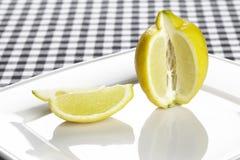 Lemon and a quarter Stock Photo