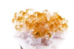 Lemon quartz isolated on white background Royalty Free Stock Image