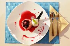 Lemon, Raspberry and Vanilla - Dessert - Food Royalty Free Stock Image