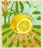 Lemon retro poster Stock Photography