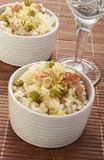 Lemon rice with bacon and peas Royalty Free Stock Photography