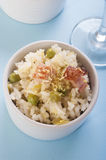 Lemon rice with bacon Royalty Free Stock Images
