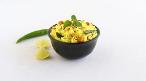 Lemon Rice South Indian Traditional and Popular Vegetarian Breakfast Royalty Free Stock Image
