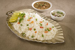 Lemon Rice or Vegetable Pulao Royalty Free Stock Photography