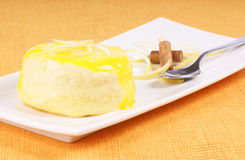 Lemon and ricotta souffle royalty free stock photo