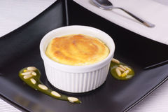 Lemon ricotta souffle Royalty Free Stock Photos