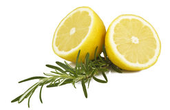 Lemon and rosemary Royalty Free Stock Image