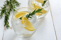 Lemon and rosemary soda Royalty Free Stock Photography