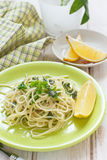 Lemon, sage and parsley pasta Royalty Free Stock Photography