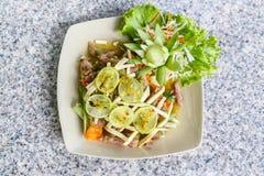 Lemon salad with BBQ meat Stock Photos