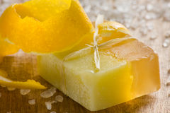 Lemon scented soap Royalty Free Stock Photos