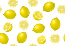 Lemon. Seamless background royalty free stock photos