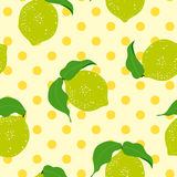Lemon seamless background. Royalty Free Stock Photography