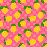 Lemon seamless background. Stock Photos