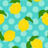 Lemon seamless background. Stock Image