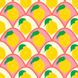 Lemon seamless background. Stock Photography