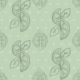Lemon seamless background Royalty Free Stock Images