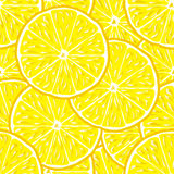 Lemon seamless background Stock Photography