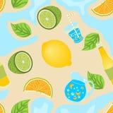 Lemon seamless background Royalty Free Stock Photos