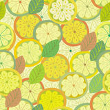 Lemon seamless pattern Royalty Free Stock Photo