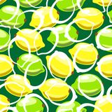 Lemon seamless pattern Royalty Free Stock Images
