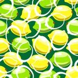 Lemon seamless pattern Royalty Free Stock Images