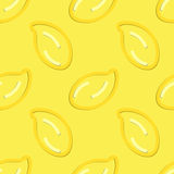 Lemon Seamless Pattern Kid's Style Hand Drawn Royalty Free Stock Image