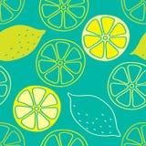 Lemon seamless pattern royalty free illustration
