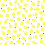 Lemon seamless pattern. Royalty Free Stock Photography