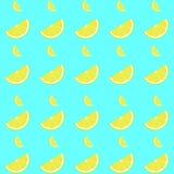 Lemon seamless pattern with slice royalty free stock photo