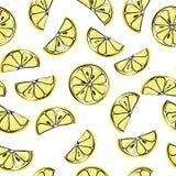 Lemon seamless pattern. Lemon Seamless sliced lemons pattern background  illustration Stock Photo
