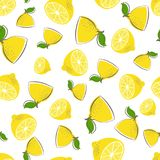 Lemon seamless pattern vector illustration
