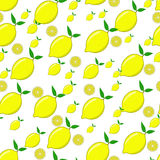 Lemon seamless pattern Royalty Free Stock Photography