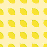 Lemon seamless pattern. On a yellow background Royalty Free Stock Images