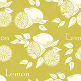 Lemon seamless Stock Photo