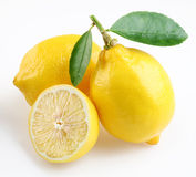 Lemon with section Stock Image