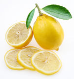 Lemon with section Royalty Free Stock Photo